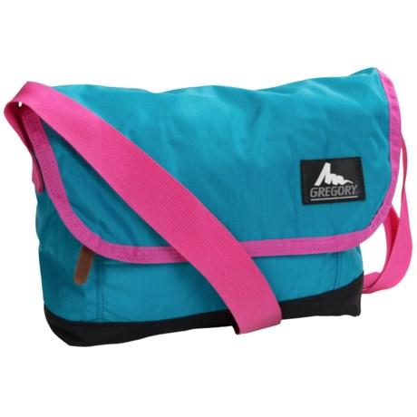 Gregory Kick-Back Shoulder Bag - 4.2L in Sky Blue/Hot Pink