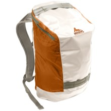 Gregory Kicker Backpack in White Tarpaulin/Orange Pc - Closeouts