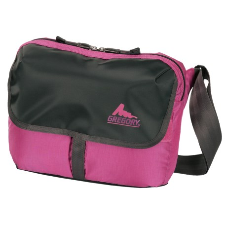 Gregory RPM Shoulder Bag - 12L in Black Tarpaulin/Fuchsia