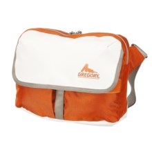 Gregory RPM Shoulder Bag - 12L in White Tarpaulin/Orange - Closeouts