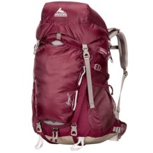 Gregory Sage 45 Backpack - Internal Frame (For Women) in Rosewood Red - Closeouts