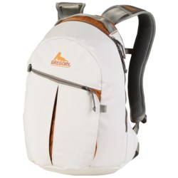 Gregory Sequence Backpack in White Tarpaulin/Orange