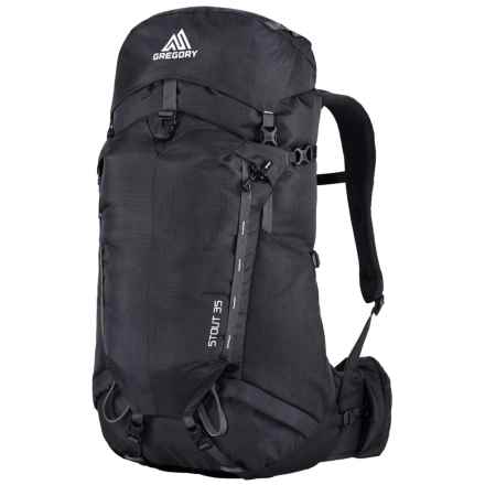 Gregory Stout 35 Backpack - Internal Frame in Shadow Black - Closeouts