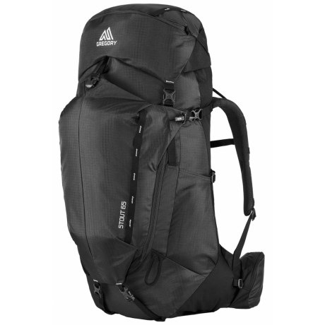 Gregory Stout 65 Backpack - Internal Frame in Shadow Black