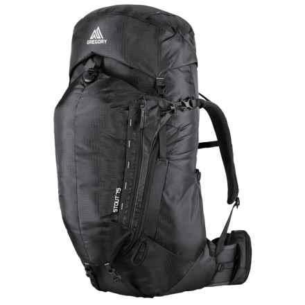 Gregory Stout 75 Backpack - Internal Frame in Shadow Black - Closeouts