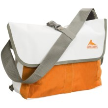 Gregory Sync Messenger Bag - 11L in White Tarpaulin/Orange - Closeouts