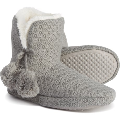 Grey Ariah Slipper Boot Socks (For Women) - GREY (M )