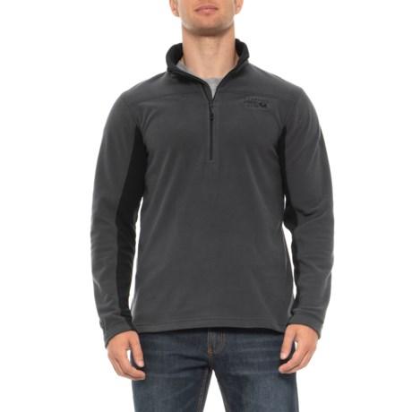 Grey Microchill Fleece Pullover Shirt Upf 50+, Zip Neck, Long Sleeve (for Men) Grey (2xl )