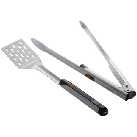 Grillight LED-Lighted Spatula and Tongs Grilling Set - Stainless Steel in See Photo