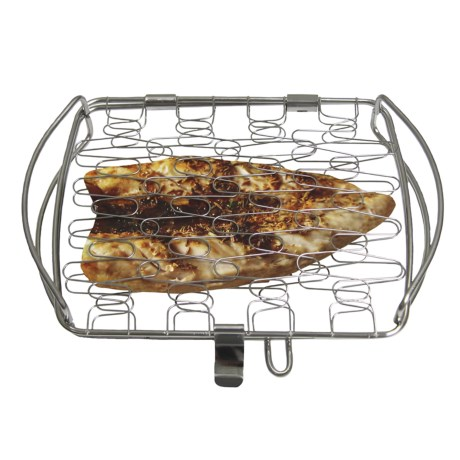 Grip-On Tools Fish Grill Basket in Silver