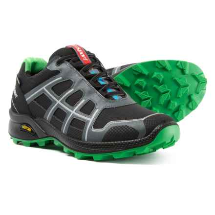 Grisport Made in Italy Quick Trail Running Shoes - Waterproof (For Men) in Black/Green - Closeouts