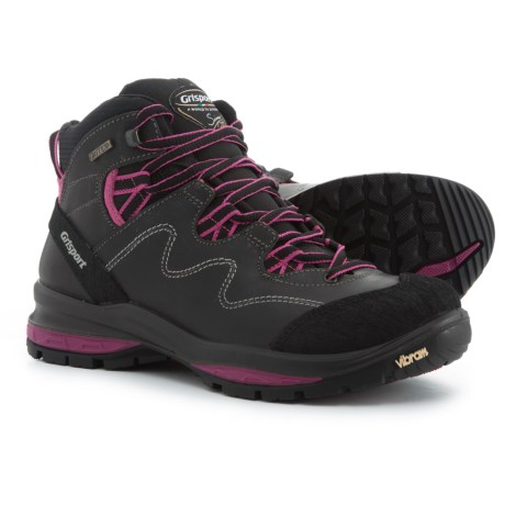 Grisport Made in Italy Spire Hiking Boots - Leather (For Women) in Grey/Fuchsia