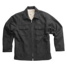 Grizzly Bison Coat - Wool (For Men) in Coal - Closeouts