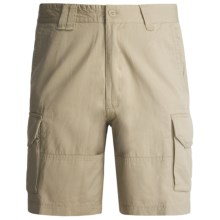 Grizzly Carter Cargo Shorts - Cotton Twill (For Men) in Safari - Closeouts