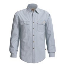 Grizzly Chambray Shirt - Long Sleeve (For Tall Men) in Chambray - Closeouts