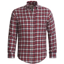 Grizzly Clark Plaid Shirt - Flannel, Long Sleeve (For Men) in Red - Closeouts