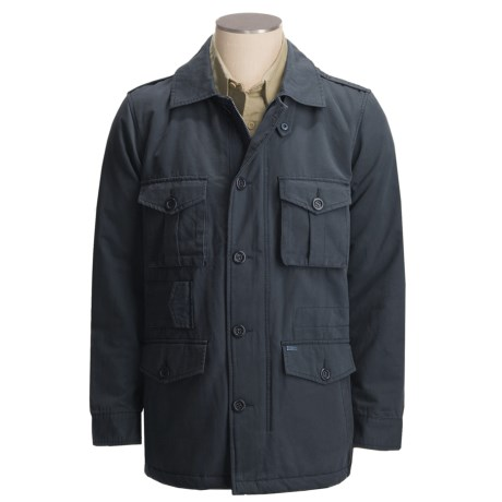 Grizzly Hudson Bedford M-65 Jacket - Cotton Canvas (For Men) in Ink