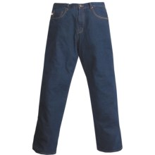 Grizzly Ike Flannel-Lined Jeans (For Men) in Indigo W/Blue/Brown Plaid - Closeouts