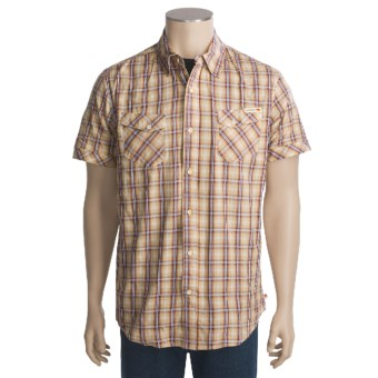 Grizzly Jake Sport Shirt - Short Sleeve (For Men) in Cherry