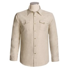 Grizzly Maverick Shirt - Cotton Chamois, Long Sleeve (For Men) in Oat - Closeouts