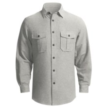 Grizzly Ranger Brushed Heathered Chamois Shirt - Long Sleeve (For Men) in Flint - Closeouts