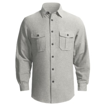 Grizzly Ranger Brushed Heathered Chamois Shirt - Long Sleeve (For Men) in Flint