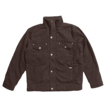 Grizzly Shane Waxed Baby Canvas Coat - Flannel Lining (For Men) in Java - Closeouts