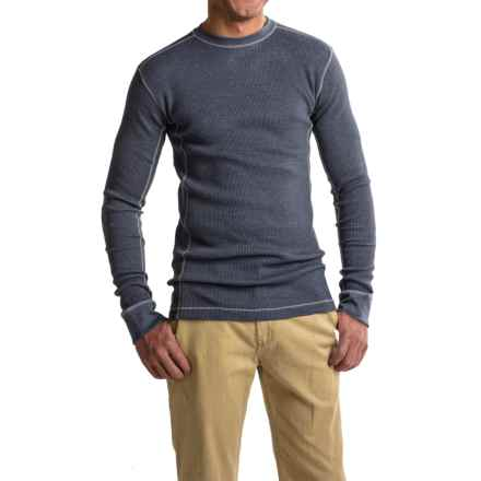 Grizzly Trapper Crew Shirt - Waffle Knit, Long Sleeve (For Men) in Navy - Closeouts