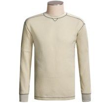 Grizzly Trapper Crew Shirt - Waffle Knit, Long Sleeve (For Men) in Oat - Closeouts
