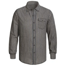 Grizzly Trent Gingham Plaid Shirt - Brushed Cotton, Long Sleeve (For Men) in Khaki - Closeouts
