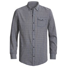 Grizzly Trent Gingham Plaid Shirt - Brushed Cotton, Long Sleeve (For Men) in Slate - Closeouts