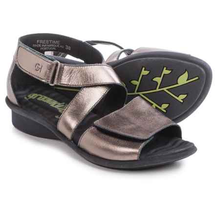 Groundhog Freetime Leather Sandals (For Women) in Bronze - Closeouts