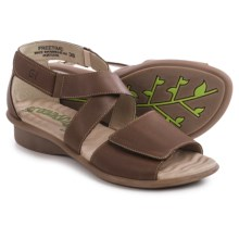Groundhog Freetime Leather Sandals (For Women) in Mud - Closeouts