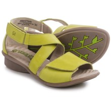 Groundhog Freetime Leather Sandals (For Women) in Pistachio - Closeouts