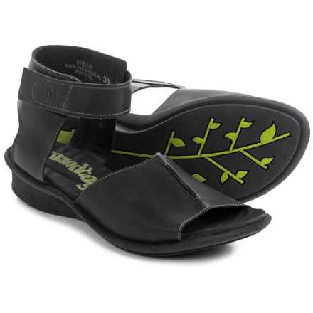 Groundhog Ribba Ankle Strap Sandals (For Women) in Black - Closeouts