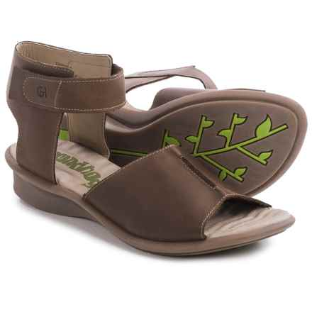 Groundhog Ribba Ankle Strap Sandals (For Women) in Mud - Closeouts