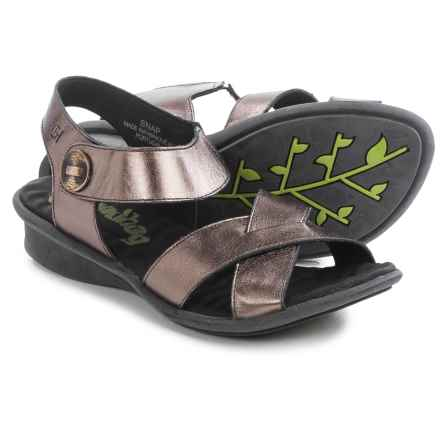Groundhog Snap Criss-Cross Sandals - Leather (For Women) in Bronze - Closeouts