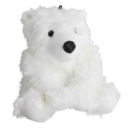 Grriggles Arctic Buddies Polar Bear Medium Dog Toy in White - Closeouts