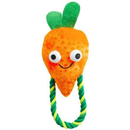 Grriggles Veggie Carrot Rope Tug Dog Toy in Orange - Closeouts
