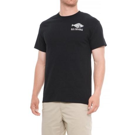 Grundens Gage Halibut Logo T-Shirt - Short Sleeve (For Men) in Black