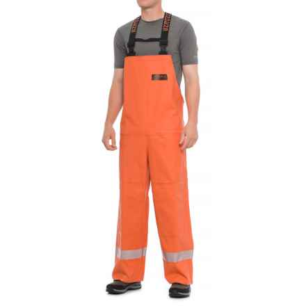 Grundens Harvestor Pro 560 Bib Pants - Waterproof (For Men) in Orange - Closeouts