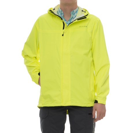 Grundens Hooded Packable Jacket - Waterproof (For Men) in Hi-Vis Yellow