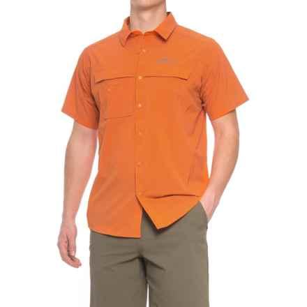 Grundens Hooksetter Shirt - UPF 30, Short Sleeve (For Men and Big Men) in Burnt Orange - Closeouts