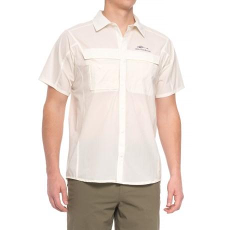 Grundens Hooksetter Shirt - UPF 30, Short Sleeve (For Men and Big Men) in Egret