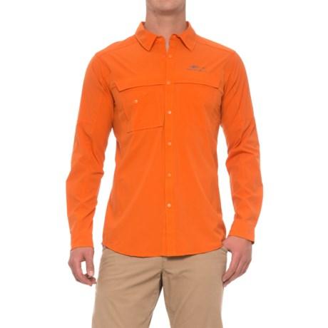 Grundens Hooksetter Shirt - UPF 30, Snap Front, Long Sleeve (For Men and Big Men) in Burnt Orange