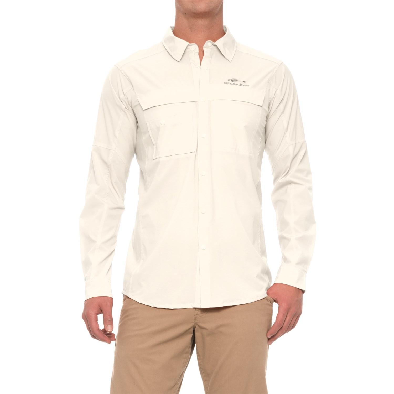 Grundens hooksetter shirt for men and big men save 73 for Men s upf long sleeve shirt