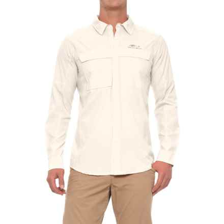 Grundens Hooksetter Shirt - UPF 30, Snap Front, Long Sleeve (For Men and Big Men) in Egret - Closeouts