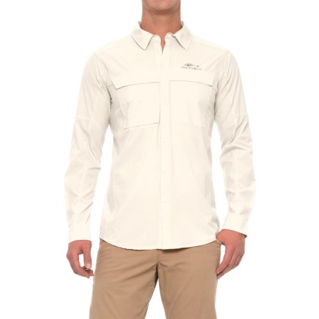 Grundens Hooksetter Shirt - UPF 30, Snap Front, Long Sleeve (For Men and Big Men) in Egret