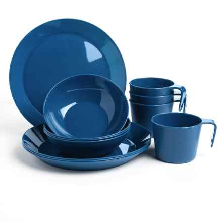 GSI Cascadian Four-Person Dish Set - 12-Piece in Blue - Closeouts