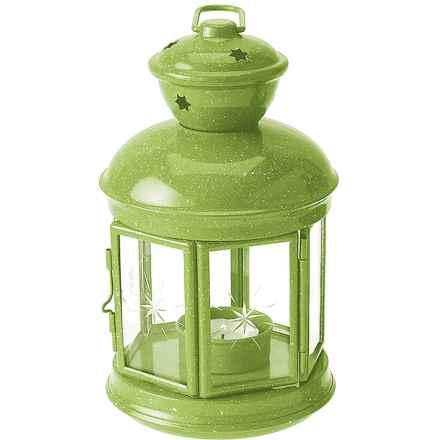 GSI Fiesta Candle Lantern in Green - Closeouts